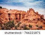 natural arch at kodachrome... | Shutterstock . vector #766221871