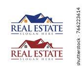 real estate logo  roof... | Shutterstock .eps vector #766223614