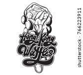 hong kong waffles . vector... | Shutterstock .eps vector #766223911