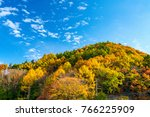 a colorful mountain in autumn... | Shutterstock . vector #766225909