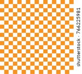 orange and white chessboard... | Shutterstock .eps vector #766225981