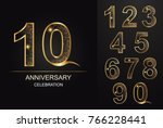 number 10 aniversary... | Shutterstock .eps vector #766228441