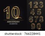 number 10 aniversary... | Shutterstock .eps vector #766228441