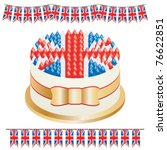 great britain cake with banners ...   Shutterstock .eps vector #76622851