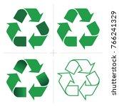 recycle icon vector set | Shutterstock .eps vector #766241329