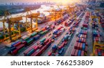 logistics and transportation of ... | Shutterstock . vector #766253809
