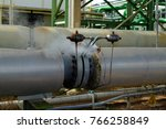steam leaks through orifices of ...   Shutterstock . vector #766258849