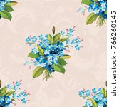 seamless floral pattern with... | Shutterstock .eps vector #766260145