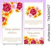 vintage delicate invitation... | Shutterstock . vector #766260427