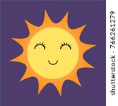 sunny happy emoji weather icon  ... | Shutterstock .eps vector #766261279