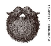 heavy beard and mustache. eps8. ... | Shutterstock .eps vector #766268431