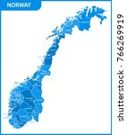 the detailed map of the norway... | Shutterstock .eps vector #766269919