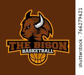 bison head sports logo  bison...   Shutterstock .eps vector #766279621