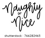 naughty or nice hand lettered...