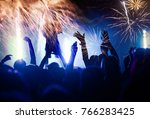 new year concept   cheering...   Shutterstock . vector #766283425