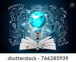 book and plan  business   ... | Shutterstock .eps vector #766285939