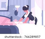 hotel service cleaning and... | Shutterstock .eps vector #766289857