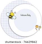 baby shower invitation | Shutterstock .eps vector #76629862