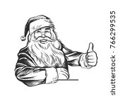 Santa Claus Pointing - Retro Clip Art   Shutterstock vector #766299535
