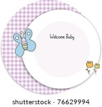 baby shower invitation | Shutterstock .eps vector #76629994