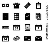 origami style icon set   money... | Shutterstock .eps vector #766301527