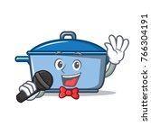 singing kitchen character... | Shutterstock .eps vector #766304191