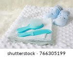 collection of items for newborn ... | Shutterstock . vector #766305199