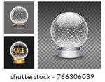 snow globe vector set. new year ... | Shutterstock .eps vector #766306039