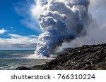 kilauea volcano 61g lava flow...   Shutterstock . vector #766310224