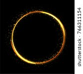 fire ring glowing trace. fre... | Shutterstock . vector #766311154