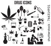 drug icons set vector.    Shutterstock .eps vector #766314931