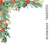 colored pencils christmas... | Shutterstock . vector #766322551