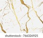 marble with golden texture... | Shutterstock .eps vector #766326925