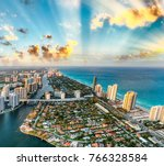 miami beach coastline as seen... | Shutterstock . vector #766328584
