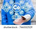 cobalt. metallurgy. manufacture ... | Shutterstock . vector #766332529