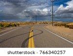 Skid Marks On Desert Road ...