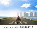 business man ready to run... | Shutterstock . vector #766343611