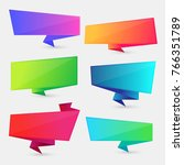 colorful speech bubble set ... | Shutterstock .eps vector #766351789