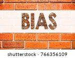 Small photo of Conceptual announcement text caption inspiration showing Bias. Business concept for Prejudice Biased Unfair Treatment written on old brick background with space