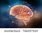 artificial neural network.... | Shutterstock . vector #766357324