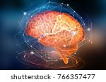 artificial neural network....   Shutterstock . vector #766357477