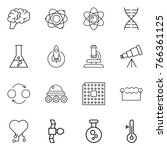 thin line icon set   brain ... | Shutterstock .eps vector #766361125
