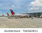 nov 8 2017 philipiines airline...   Shutterstock . vector #766362811