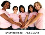 diverse women united with... | Shutterstock . vector #76636645