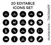 hang icons. set of 20 editable...   Shutterstock .eps vector #766366609
