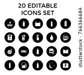 full icons. set of 20 editable...   Shutterstock .eps vector #766366684