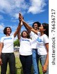 african american volunteer... | Shutterstock . vector #76636717