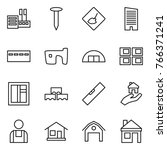 thin line icon set   store ... | Shutterstock .eps vector #766371241