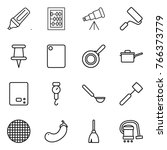 thin line icon set   marker ... | Shutterstock .eps vector #766373779