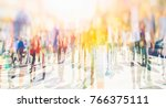 crowd of anonymous people... | Shutterstock . vector #766375111